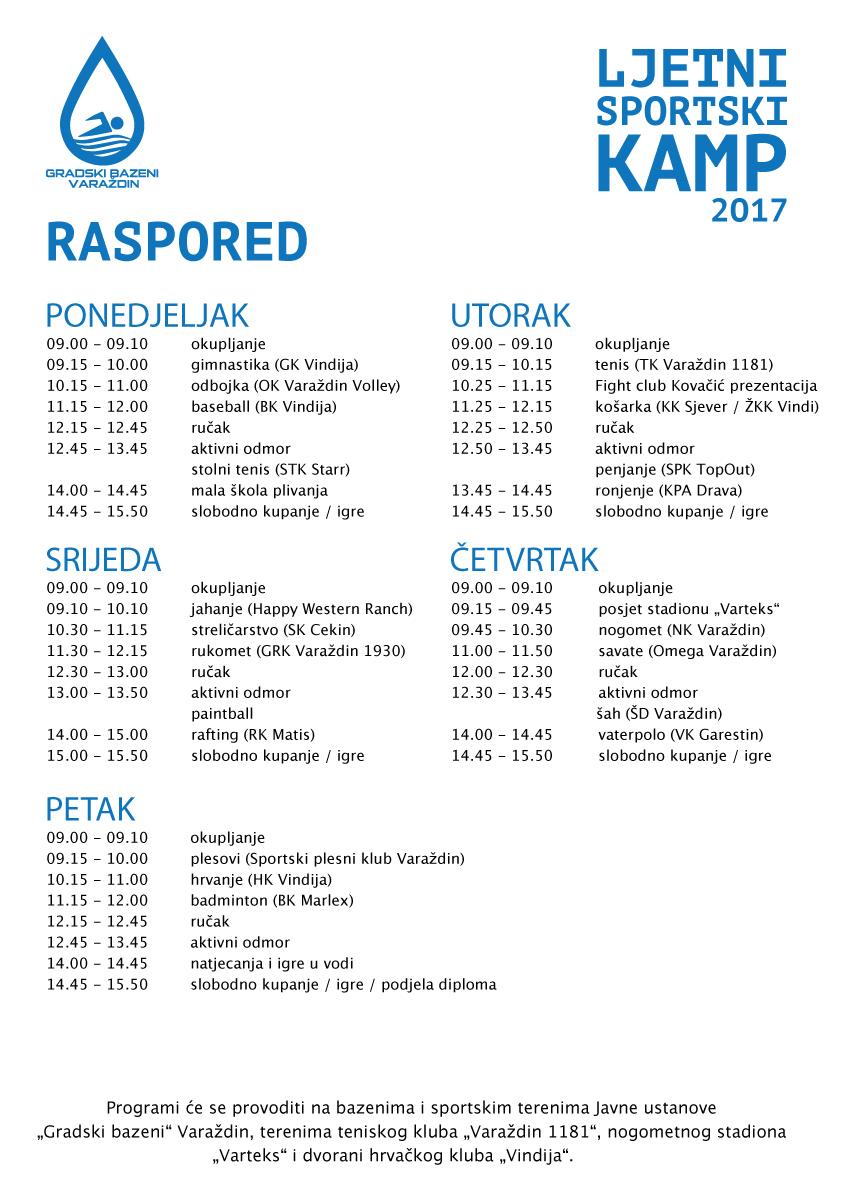 Kamp-raspored-2017