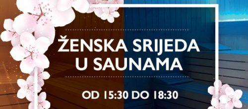 Ženska srijeda u saunama od 15:30 do 18:30