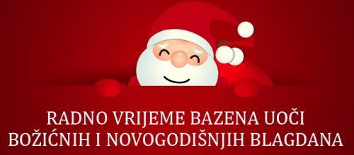 Radno vrijeme za Božić i Novu godinu 2019.