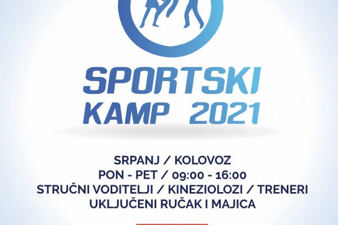 Ljetni sportski kamp 2021 počinje 05.07.2021.