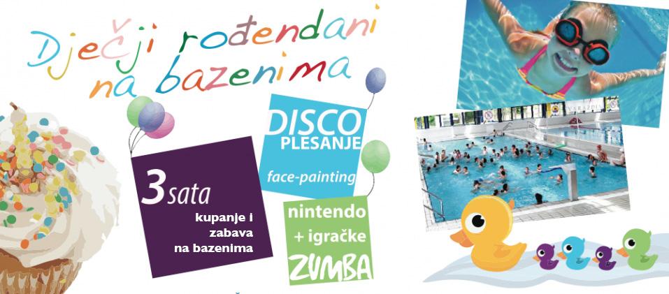 rođendan na bazenu Gradski bazeni Varaždin | Dječji rođendani rođendan na bazenu